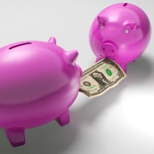 piggy banks fighting over money